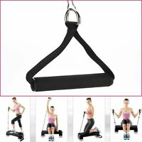 Pair Tricep Rope Cable Gym Attachment Handle Bar Dip Station Resistance Exercise