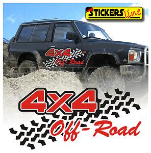 Adesivi 4x4 fuoristrada OFF-ROAD 4X4  mis. cm 90x47 adesivi per fiancate auto
