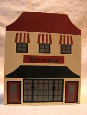 Vintage The Cat's Meow Victorian Wooden Building 2 Story Ristorante