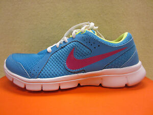 New Nike Flex Experience (GS) Girls Size 6 Y Youth Running Shoes Blue 599344-401