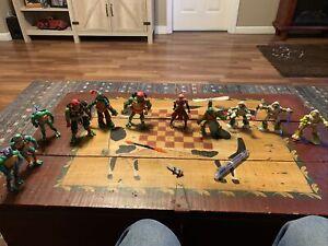 Teenage Mutant Ninja Turtle Action Figures Lot Of 11