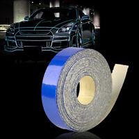 5m x 1cm Blue Reflective Stripe Sticker Tape Car Truck Body Self Adhesive Decal