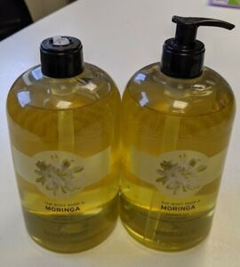 The Body Shop Large Moringa Shower Gel 750ml Pump Bottle x 2 - broken pump