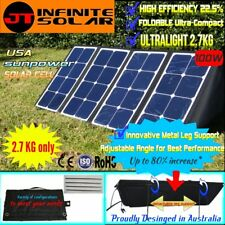 SunPower Cell@ULTRALIGHT 100W 12V Portable Folding Solar Panel*2.7kg only