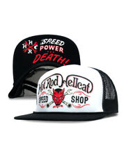HOT ROD HELLCAT DEVIL COOP SPEED SHOP DEMON CUSTOM RAT FINK TRUCKER HAT  SNAPBACK 063c5b17b6b2