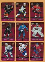 2019 20 TIM HORTONS 9 LOT RED DIE CUTS #'S DC-1 ,3 ,7 ,14 ,21 ,22 ,26 ,32 ,33