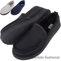 Absolute Footwear Caleb, Mens Slip On Moccasin Style Loafer Slipper