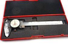 """Starrett 120A-6 Dial Caliper  0‑6"""" Range .001"""" Grad in Case *AS IS*"""
