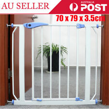 Baby Gate Safety Fence Child Protection Door Dog Cat Pet Barrier 70 X 79cm AU