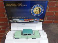 Franklin Mint 1955 Cadillac Fleetwood 1:24 Scale Diecast Model Car Green