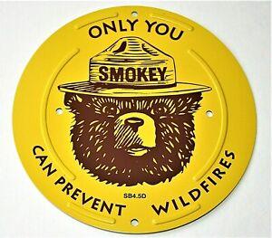 Smokey Bear Forrest Ranger Round Tin Boundary Marker New 2000s Prevent Wildfires