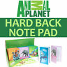 4 x Modelli Assortiti Animal Planet Retro Rigido Bloc-Notes Facile da Carry