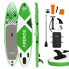 AREBOS Stand Up Paddle SUP Board Paddling Double Layer aufblasbar + Paddel 320cm
