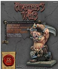 Warhammer Avatars of War Ogre Khan with Great Weapon Nuevo metal New