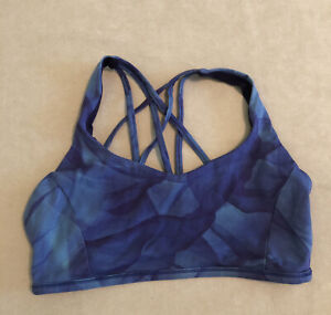 Lululemon Free To Be Cris Cross Straps Sports Bra Blue Purple Size 10