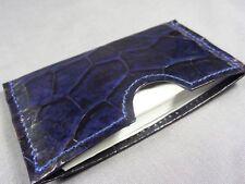 Genuine Blue Alligator Skin Deluxe Credit Card Sleeve, Card holder, Wallet 4