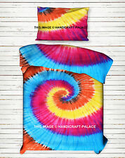 Spiral Tie Dye Bedspread Hippie Indian Bedding Bohemian Bed cover Throw Blanket