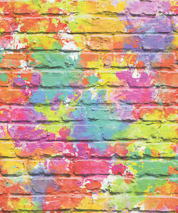 GRAFFITI  WALLPAPER TEENAGE KIDS BRICK WALL QUALITY WALLPAPER UGEPA L33505