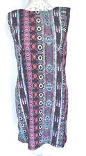 Warehouse Shift Dress Size 12 Aztec Print Sleeveless