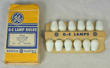 12 NOS Vintage GE C7 7W White Night Light Bulbs Lamps