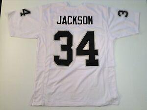 UNSIGNED CUSTOM Sewn Stitched Bo Jackson White Jersey - M, L, XL, 2XL