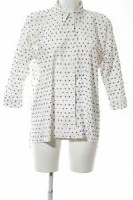 HOLY GHOST Oversized blouse wolwit-blauw volledige print casual uitstraling