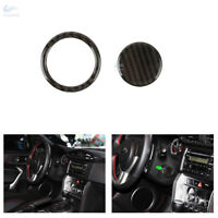 2*Real Carbon Engine Start Stop Button Ring Cover For Toyota 86 Subaru BRZ 13-17