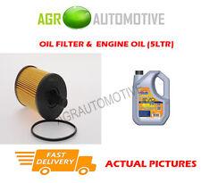DIESEL OIL FILTER + LL 5W30 ENGINE OIL FOR SKODA SUPERB 2.0 140BHP 2008-10