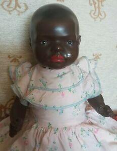 ADORABLE 13 INCH BLACK HEUBACH MOLD 399 CHARACTER BABY.