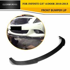 Carbon Fiber Front Bumper Lip Spoiler Refit for Infiniti G37 Sedan 2010-2013