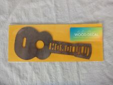 Wood Sticker Ukulele-Honolulu/Handmade In Hawaii/Shop Toast/Sign/Decoration/New