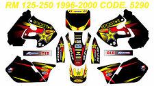 5290 SUZUKI RM 125-250 1999 2000 Autocollants Déco Graphic Sticker Decal