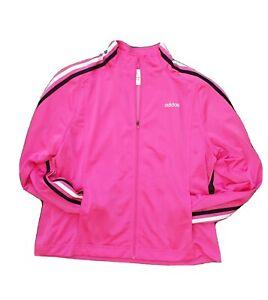 Adidas Pink Long Sleeve Full  Zip Track Jacket Women Size XL
