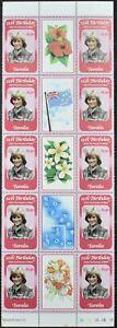 Tuvalu 1982, $1.50 Princess Diana Optd Royal Baby Gutter Strip MNH #V13511