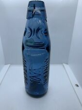 Blue Glass Codd Bottle. Wadsworths Cambridge. E Breffit & Co