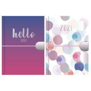 2021 Pocket Week to View Watercolour Spot and Ombre Design Diary
