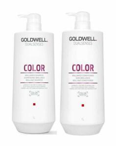 GOLDWELL DUALSENSES BRILLIANCE COLOR SHAMPOO AND CONDITIONER 33.8oz set