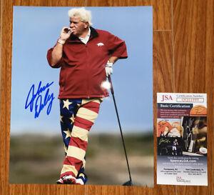 John Daly Signed 8x10 Photo Golf PGA JSA COA Autograph USA Flag Pants Golf Great