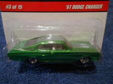 HOT WHEELS 2008 HOT WHEELS CLASSICS SERIES 4, '67 DODGE CHARGER. #3/15 green