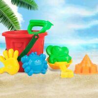 7Pcs Summer Kids Bucket Shovel Rake Mold Outdoor Game Beach Sand Play Toy Set