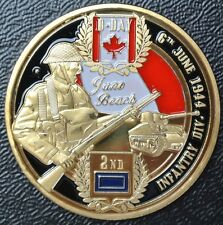 CANADA INFANTRY DIVISION WWII D-DAY 1944 Juno Beach Painted Commemorative Medal