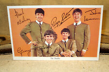 """The Beatles Reproduction Autographed Post Card Tabletop Standee 10 3/4 X 7"""""""