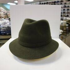 BORSALINO OLIVE OUTBACK STINGY BRIM FUR FELT FEDORA DRESS HAT *READ BELOW 4 SIZE