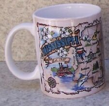 Coffee Mug Explore America Mississippi Map Landmarks NEW 11 ounce cup w gift box