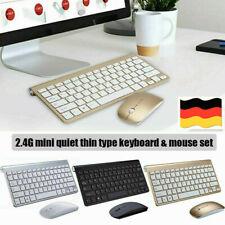 Wireless Kabellos Funk USB Keyboard Tastatur und Maus für PC Computer DE