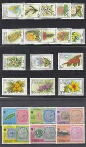TRINIDAD & TOBAGO (MM296,A) # 312-317-MH,392-407-MNH  VARc,$  FLOWERS ++CV $31