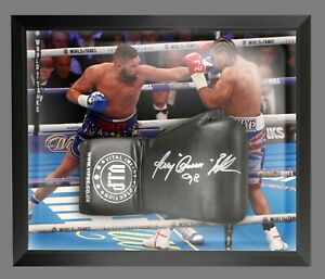 Tony Bellew Hand Signed Black Vip Boxing Glove In A Dome Frame : A