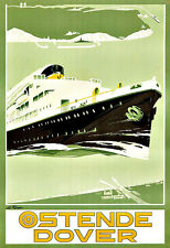 Art Ad Ostende Dover Travel Deco  Poster Print