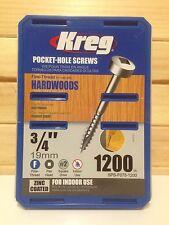 """Kreg Pocket-Hole Screws - .75"""", #6 Fine, Pan Head, 1200Ct"""