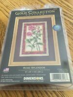 Dimensions ROSE SPLENDOR Gold Collection counted cross stitch kit 6906, NIP